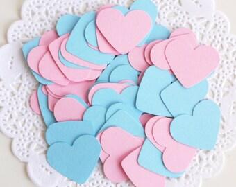 Gender Reveal Party Confetti, Heart Confetti, Baby Confetti, Pink Confetti, Baby Bue Confetti