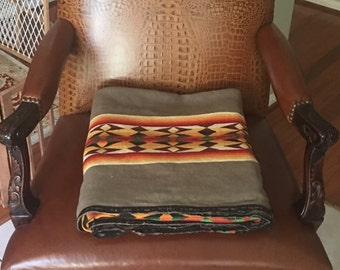 Antique Pendleton Wool Trade Blanket