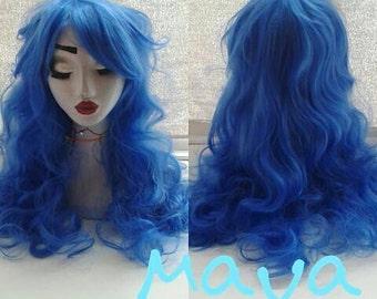 Maya, 65cm royal blue anime lolita wig