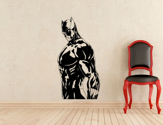 Black panther stickers wall vinyl decals superhero comic book for Black panther mural