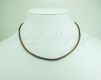 "Copper Viking Knit Necklace 1/8"" Diameter"