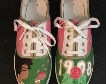 Lady's Pink & Green Shoes (Sample)