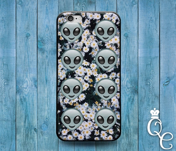 iPhone 4 4s 5 5s 5c SE 6 6s 7 plus iPod Touch 4th 5th 6th Generation Cute Alien Emoji Daisy Flower Space Dork Funny Phone Case Cool Cover