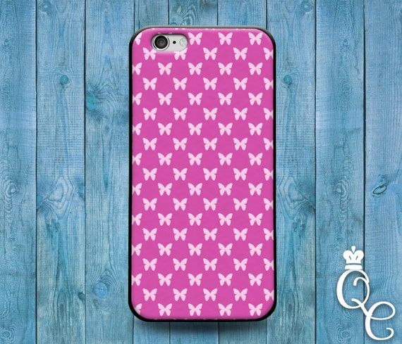 iPhone 4 4s 5 5s 5c SE 6 6s 7 plus iPod Touch 4th 5th 6th Gen Pretty Pink White Butterfly Pattern Girly Girl Grad Gift Dream Case Cover