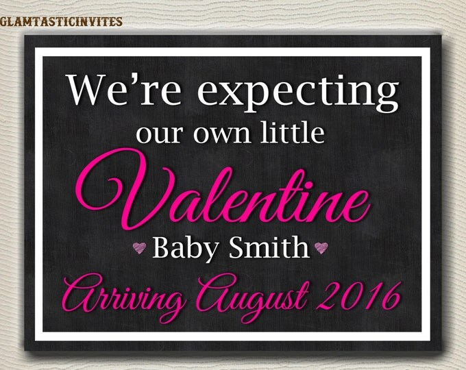 Valentine Pregnancy Announcement, Printable Pregnancy Reveal, Valentine's Day Pregnancy Announcement, Valentine Pregnancy Reveal, DIGITAL