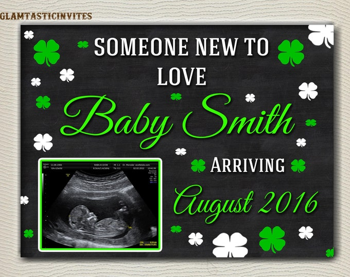 St. Patrick's Day Pregnancy Announcement, Pregnancy announcement, Chalkboard, Pregnancy Chalkboard, Saint Patricks Day, St.Patty Sign, Photo