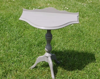 Fab Shabby Chic Small Pedestal Table Demilune Table Annie Sloane Paint