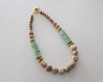 natural stone necklace, stone statement necklace, statement necklace, jasper necklace, natural stone jewelry, jasper jewelry