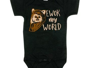 Star Wars Shirt. Ewok Shirt. Star Wars Bodysuit. Ewok my World. Ewok T-shirts.
