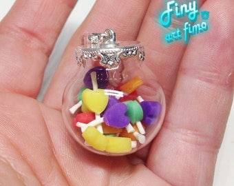 Assorted candy glass