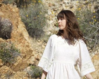 Bohemian Linen Dress