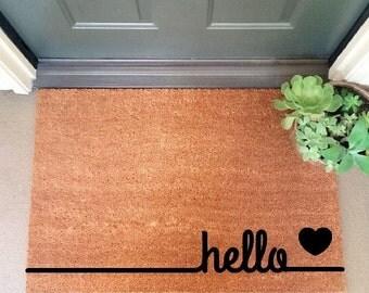 Hello Coir Doormat Coir Funny Doormat / Welcome Mat / Doormat