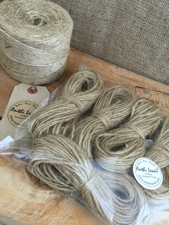Natural Brown Rustic Twine - 3mm Thick Quality Jute Craft Twine / 100m String Gift Pack / Shabby Chic Wedding Twine / Packaging Jute Twine