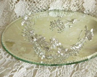 Lovely antique bridal jewelry set, Tiara/Diadem/Crown...CHARMANT!
