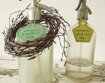 Set of 2 Antique Seltzer Bottles..CHARMANT!