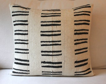 "Vintage Mud Cloth Pillow 20"" x 20"""