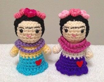 Crochet FRIDA Doll, Frida Kahlo Crochet, Frida Kahlo Amigurumi