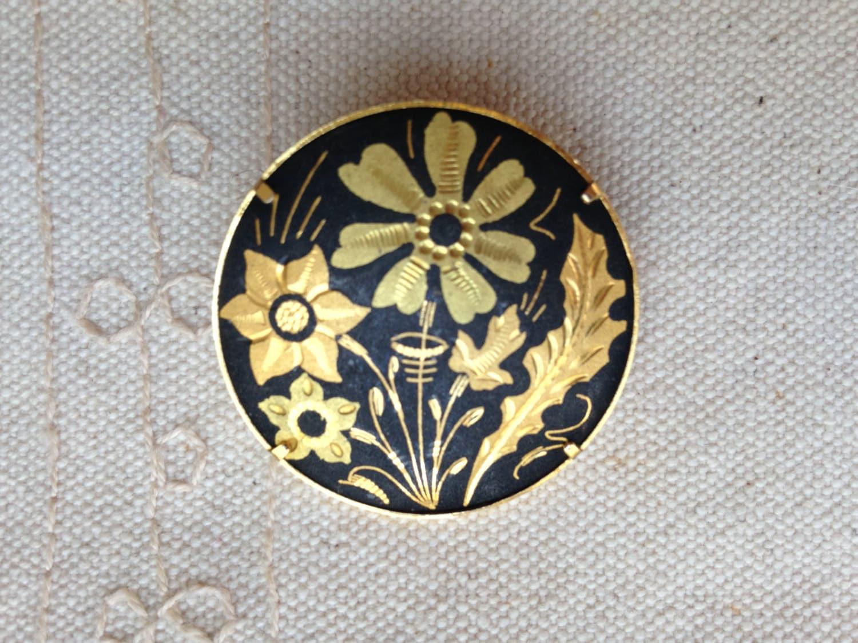Damascene Brooch Pin spanish damascene jewelry spanish | 1500 x 1125 jpeg 305kB