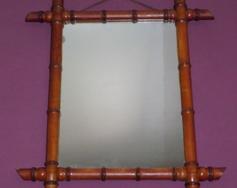 Faux bamboo vintage mirror / mirrors / faux bamboo vintage furniture