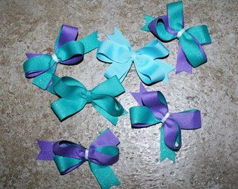 Miniature Customizable Hair Bows - Clips on the Back