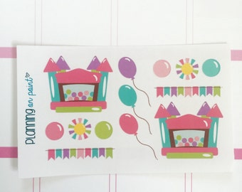 Bounce House Birthday Party Planner Stickers