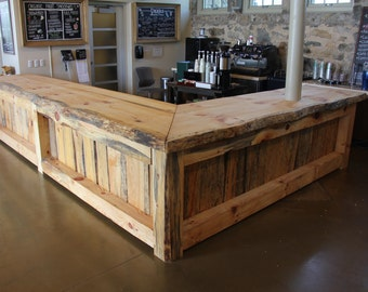 Customized Rustic Bar or Counter Top (LIVE EDGE WOOD)....Give us dimensions, we give you price