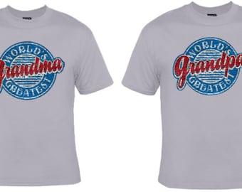 Matching Set! World's Greatest Grandma and Grandpa T-shirts!