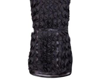 Black Waistline design organza dress'