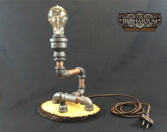 1017 -Steampunk Lamp - Industrial Pipe Lamp - Vintage Edison Bulb - Steampunk Light - Pipe Lamp - Industrial Light - Stean Punk -  Desk Lamp