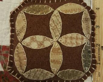 Pincushion, Wool Petals Pincushion, Handmade Pincushion,  Pincushion, Wool Felt Pincushion, Hand Stitched,  Handmade Wool Pincushion
