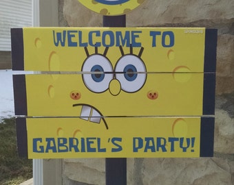 Sponge Bob  Birthday Yard Sign