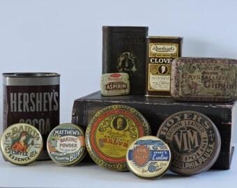 Vintage Apothocary Tins