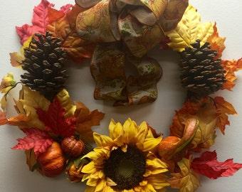 Fall Pine Wreath