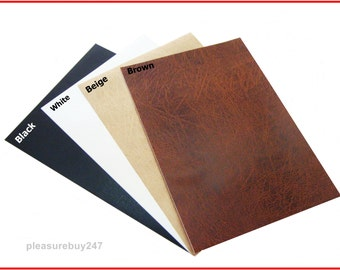 Leather Self Adhesive A4 Sheet Sticky Back Vinyl Craft Use Leatherette Faux DC Fix Sticker