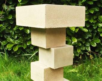 Cubist birdbath / bird feeder