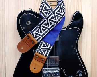 Black Weave Guitar Strap