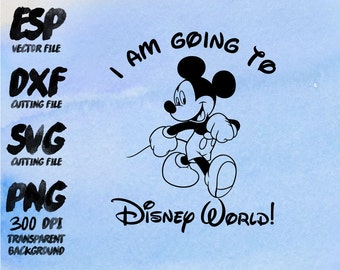 I am going to disney Mickey Clipart , SVG Cutting , ESP Vectors files , T shirt , iron on , sticker ,Personal Use