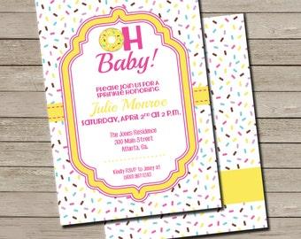 Donuts Baby Shower Invitation - PRINTABLE Donut Baby Sprinkle Invite