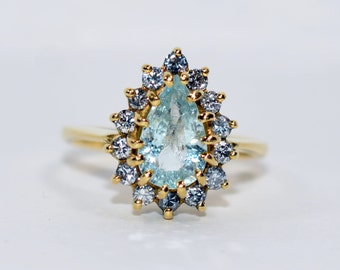 Mystical 1ct Paraiba Tourmaline Platinum Ring By