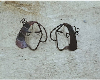 Girls copper earring