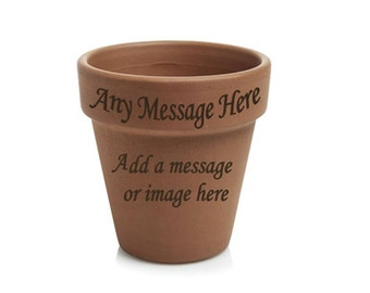 Personalised Engraved 11cm Terracotta Plant Pot
