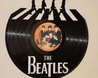The Beatles 3 Vinyl Record Wall Art