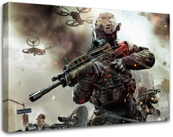 Call of duty black ops, Modern painting, wall art, modern art, stretched Canvas Prints,