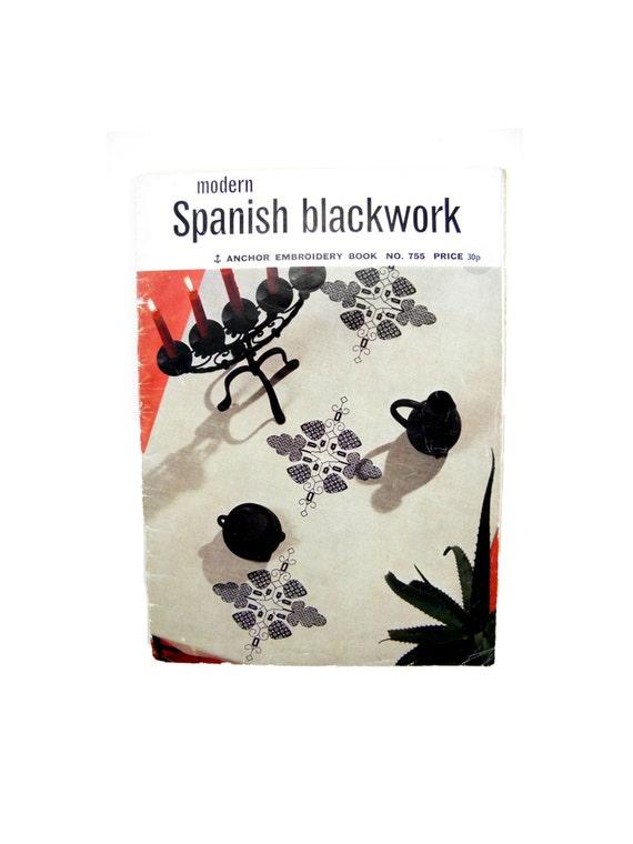 Vintage modern spanish blackwork embroidery book no