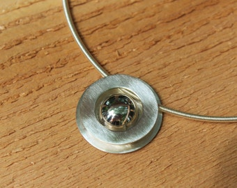 Silver Saturn Necklace