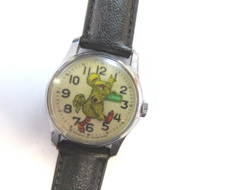Muppets Inc. Vintage BIG BIRD Bradley Manual Wind Watch