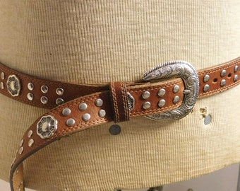 Usmego belt from France--lots of studs and fancy buckle