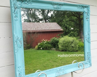 Baroque Shabby Chic Mirror Large Mirror Bathroom Mirror Vanity Mirror Baroque Mirror Wall Mirror Ornate Mirror Custom Colors Available
