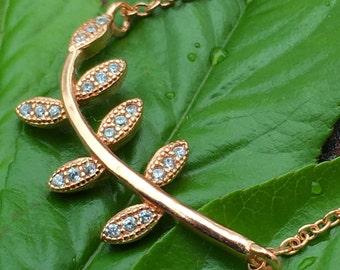 Leaf Bracelets Cz 925 / Sterling Silver