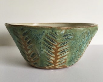 Palm Carved Bowl